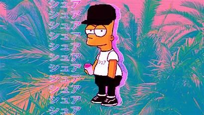 Bart Cool Simpson Wallpapers Vaporwave Backgrounds Wallpaperaccess