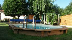 Piscine Semi Enterré Bois : piscine bois semi enterr e octogonale piscine en sol idea mc ~ Premium-room.com Idées de Décoration