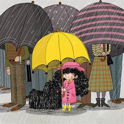 Rain Advocate Rainy Animated Cozy Haley Animation