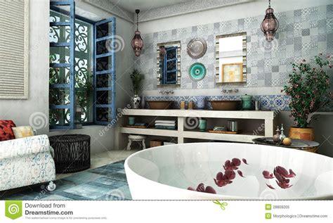 salle de bain arabe moroccan bathroom royalty free stock photo image 28809205