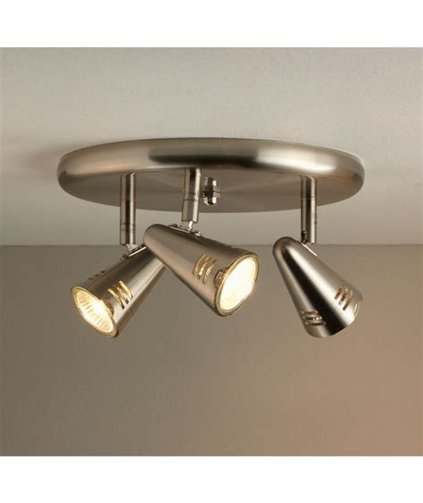 buy metza collection 3 light ceiling plate silver at