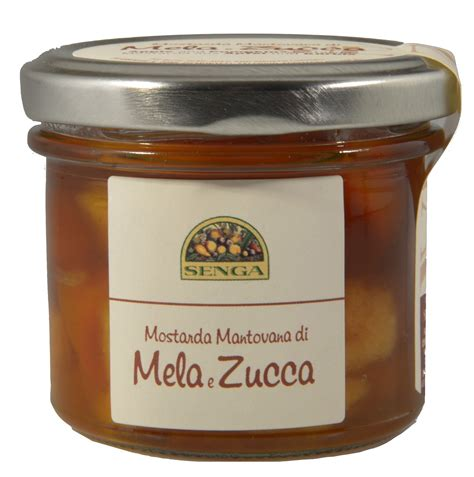 agricola mantovana mostarda mantovana di mele e zucca 120 gr agricola senga