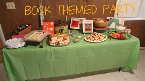 book themed party works   wednesday