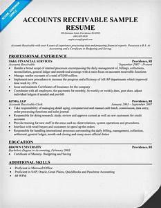 Accounts receivable resume example resumecompanioncom for Saas resume samples
