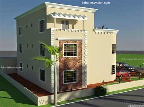 3d front elevation oman new arabian villa plan design duplex