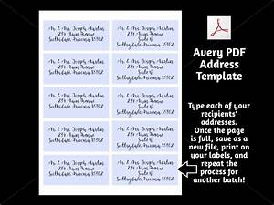 Download Avery Template Printable Address Template For Envelope Labels Avery 2 X