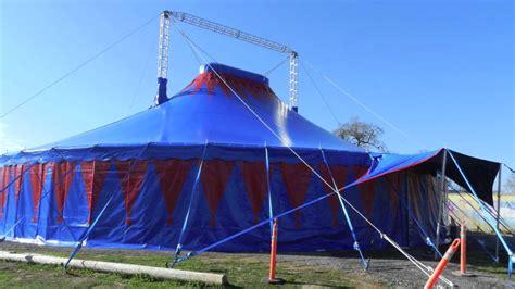 circus tent setup