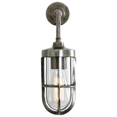 solid brass industrial or nautical wall light in antique