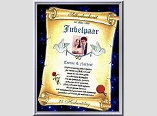 25Hochzeitstag Urkunde zur Silber Hochzeit