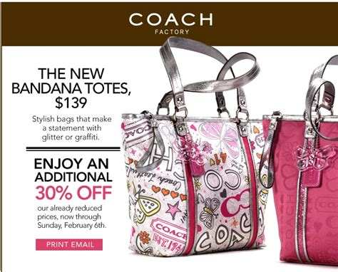 Coach Outlet 30% Off Coupon!