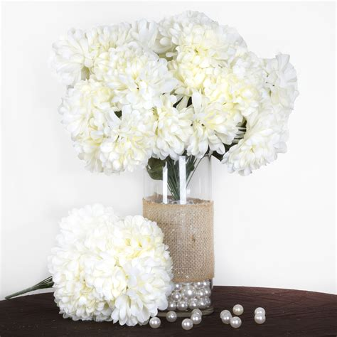 bushes  large chrysanthemum mums balls silk wedding