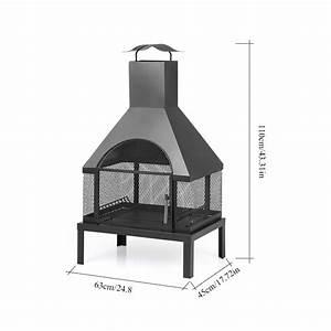 Cheminee Exterieur Bois : ikayaa po le d ext rieur en fer foyer bois grande ~ Premium-room.com Idées de Décoration