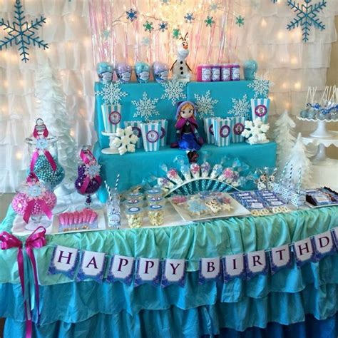 images  party theme frozen decorations