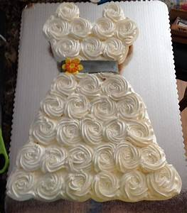 Bridal shower wedding dress cupcakes cupcakes pinterest for Wedding shower cupcakes