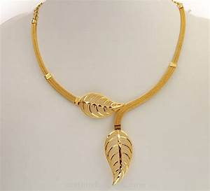 22K Gold Kerala Style Short Necklace ~ South India Jewels