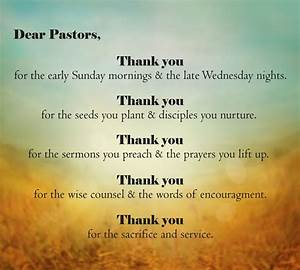 Have You Said Thank You To Your Pastor Recently Verses