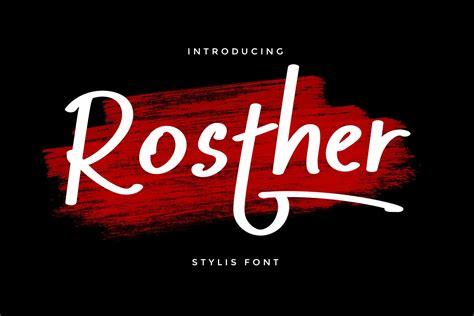 Rosther Bold Script Font - Download Fonts