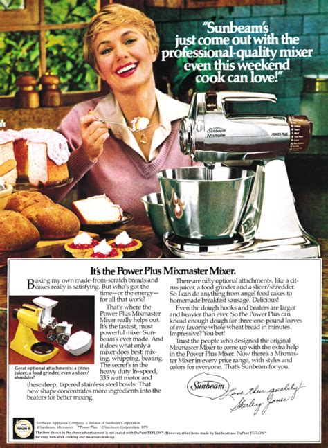 advertisement   sunbeam mixmaster  shirley