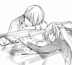 Anime doing homework