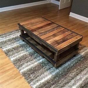 Table Basse Palettes : meubles en palettes quelques id es bricolage facile ~ Melissatoandfro.com Idées de Décoration