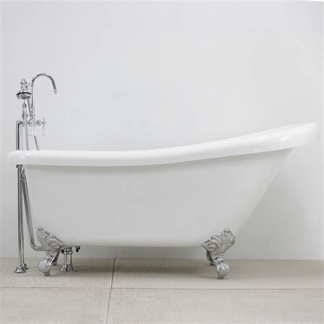 a tub 67 quot single slipper clawfoot tub and faucet pack