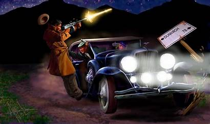Drive Mafia Shooting Gangsters Mobsters Stoner Cthulhu
