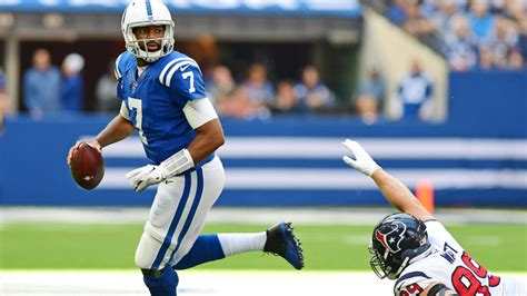 texans  colts final score jacoby brissett racks  career numbers buries houston defense