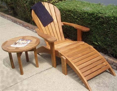 adirondack teak chairs with ottoman free shipping