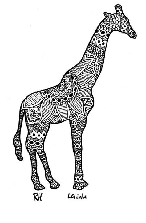 giraffe zentangle motive zentangle motives paintings
