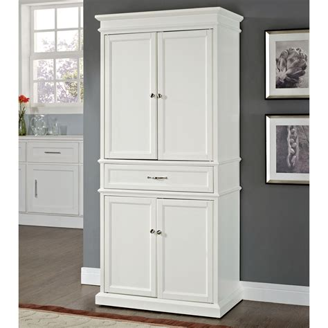 Free Standing Pantry Cabinet by Parson S Freestanding Kitchen Pantry White Www Kotulas