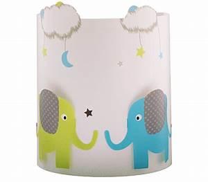 Applique chambre bb Elephant et nuages Fabrique Casse Noisette