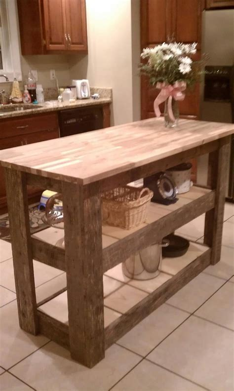kitchen islands wood kitchen island made from 39 upcycled 39 barn wood so purrty
