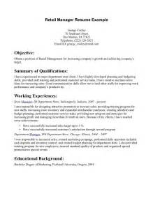 resume for a retail sales position exles of resumes resume simple for in exle 89