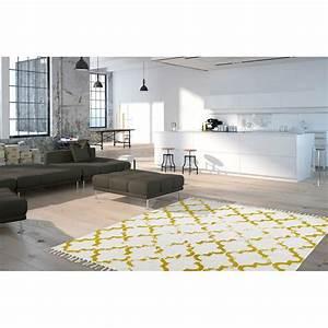 Tapis Style Scandinave : tapis en coton style scandinave vintage moutarde jokk ~ Teatrodelosmanantiales.com Idées de Décoration