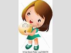 Girl holding bowling ball vectors illustration Search