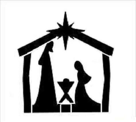 stencil christmas bethlehem manger star mary joseph baby