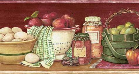 wallpaper borders for kitchen apple wallpaper border kitchen gallery