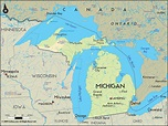 Michigan.... | Map of michigan, Michigan, Lake huron