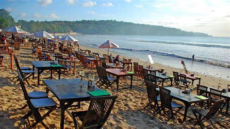 jimbaran bay beach  seafood culinary center  bali