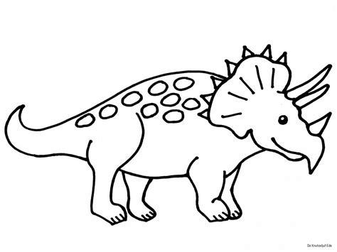 Kleurplaat Dinosaurussen by Kleurplaten Dinosaur