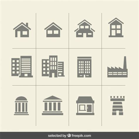 build a house free building monochrome icons vector free
