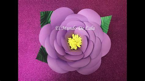 diy como hacer tus propios moldes flores de papel medianas paso a paso youtube