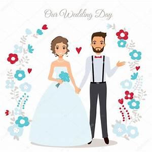 Cute wedding couple — Stock Vector © mazeina #104421620