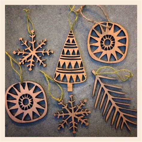 laser cut wooden ornaments  swallowfield  etsy laser