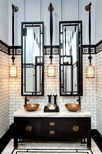 20 stunning art deco style bathroom design ideas With art deco black and white bathroom