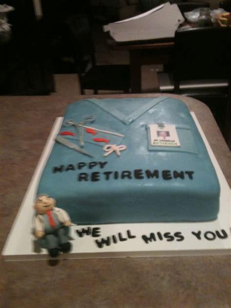 retirement cake  doctor lisas cakes pinterest