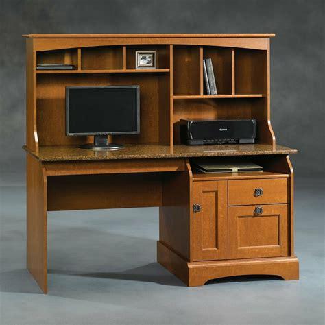 sauder laptop desk sauder 408951 graham hill computer desk with hutch ebay