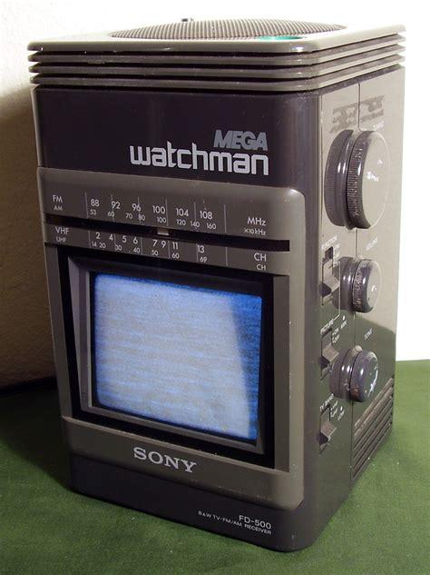 sony mega watchman fd  portable tv televisions