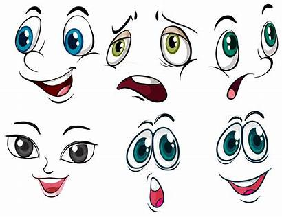 Expressions Facial Different Vector Expression Face Cartoon