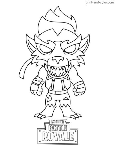 fortnite battle royale coloring page max dire werewolf chibi skin season    chibi